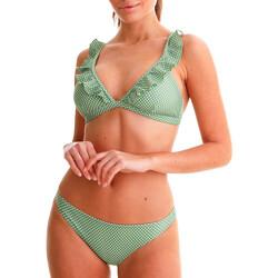 tekstylia Damskie Kostium kąpielowy dwuczęściowy Back Bloom BB210 VERT Zielony