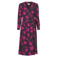 tekstylia Damskie Sukienki długie Betty London NOLIE Czarny / Różowy
