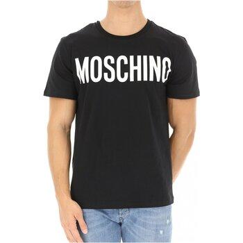 tekstylia Męskie T-shirty z krótkim rękawem Moschino ZPA0705 Czarny
