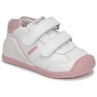 Buty Dziewczynka Trampki niskie Biomecanics BIOGATEO SPORT Biały / Różowy