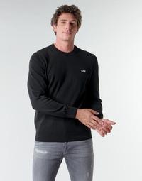 tekstylia Męskie Swetry Lacoste AH1985 Czarny