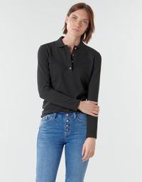 tekstylia Damskie Koszulki polo z długim rękawem Lacoste PF5464 Czarny