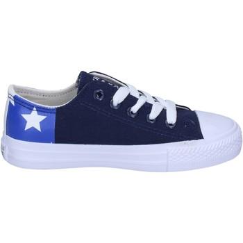 Buty Chłopiec Trampki Beverly Hills Polo Club sneakers tela Blu