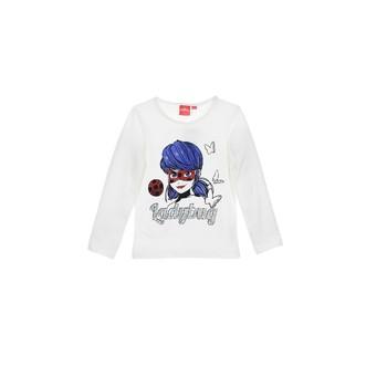 tekstylia Dziewczynka T-shirty z długim rękawem TEAM HEROES MIRACULOUS LADYBUG Biały