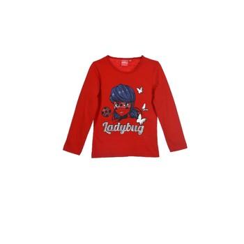 tekstylia Dziewczynka T-shirty z długim rękawem TEAM HEROES MIRACULOUS LADYBUG Czerwony