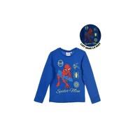 tekstylia Chłopiec T-shirty z długim rękawem TEAM HEROES  SPIDERMAN Niebieski