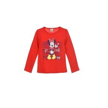 tekstylia Dziewczynka T-shirty z długim rękawem TEAM HEROES  MINNIE Czerwony