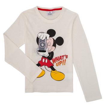 tekstylia Chłopiec T-shirty z długim rękawem TEAM HEROES  MICKEY Biały