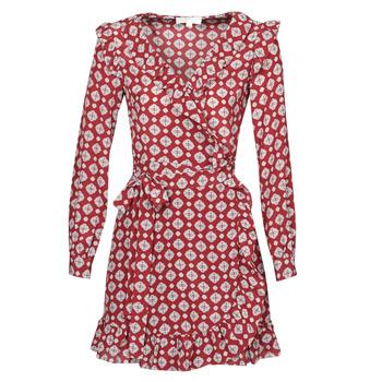 tekstylia Damskie Sukienki krótkie MICHAEL Michael Kors LUX PINDOT WRAP DRS Bordeaux