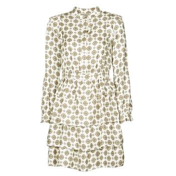 tekstylia Damskie Sukienki krótkie MICHAEL Michael Kors LUX MEDLN PINDOT DRS Beżowy