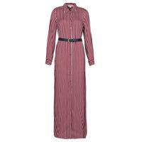 tekstylia Damskie Sukienki długie MICHAEL Michael Kors WARM PLAYFL SHIRT DR Bordeaux / Biały / Marine