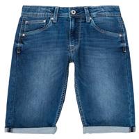 tekstylia Chłopiec Szorty i Bermudy Pepe jeans CASHED SHORT Niebieski