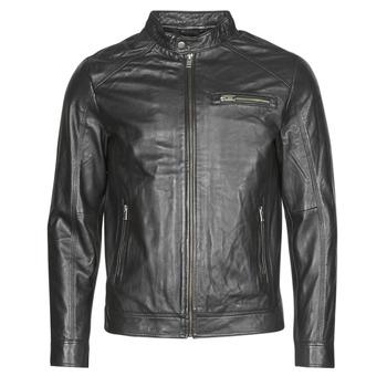 tekstylia Męskie Kurtki skórzane / z imitacji skóry Selected SLHC01 Czarny
