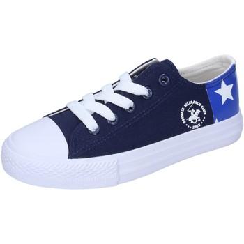 Buty Chłopiec Trampki niskie Beverly Hills Polo Club sneakers tela Blu
