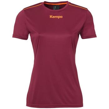 tekstylia Damskie T-shirty z krótkim rękawem Kempa Maillot femme  Poly rouge
