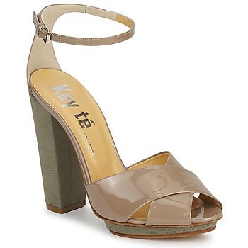 Sandały Keyté KRISTAL-26722-TAUPE-FLY-3