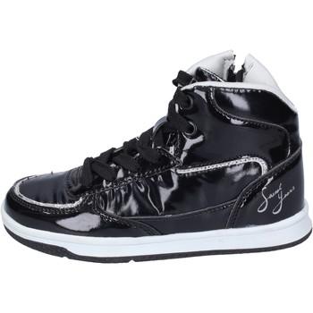 Buty Dziewczynka Trampki wysokie Sweet Years sneakers pelle sintetica vernice nero