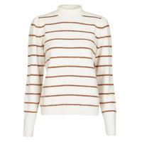 tekstylia Damskie Swetry Vero Moda VMCORNELIAPUFF Biały / Brązowy