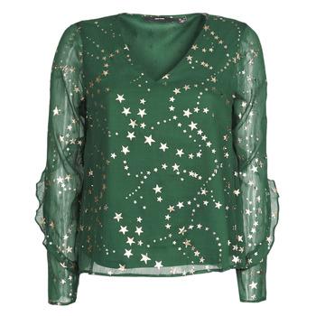 tekstylia Damskie Topy / Bluzki Vero Moda VMFEANA Zielony