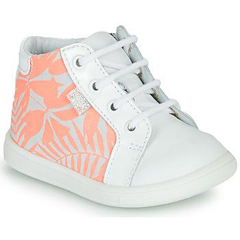 Buty Dziewczynka Trampki wysokie GBB FAMIA Biały / Różowy
