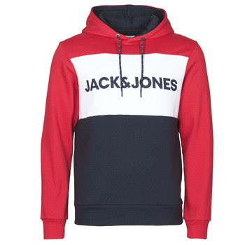 tekstylia Męskie Bluzy Jack & Jones JJELOGO BLOCKING Czerwony
