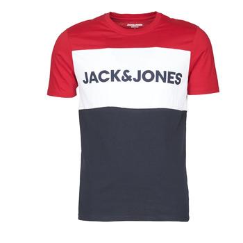 tekstylia Męskie T-shirty z krótkim rękawem Jack & Jones JJELOGO BLOCKING Czerwony