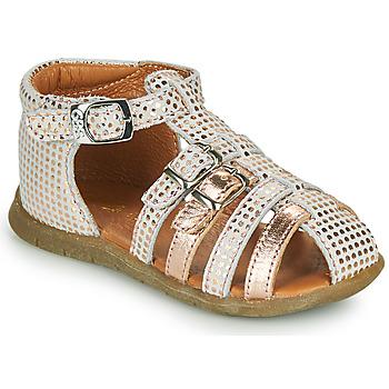 Buty Dziewczynka Sandały GBB PERLE Biały / Różowy / Gold