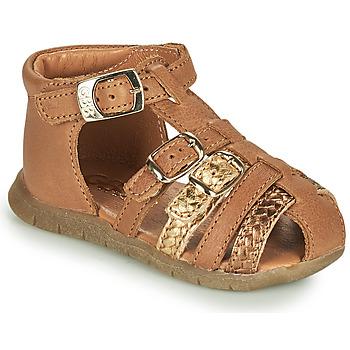 Buty Dziewczynka Sandały GBB PERLE Brązowy