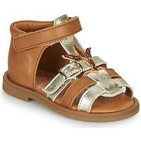 Buty Dziewczynka Sandały GBB CARETTE Brązowy