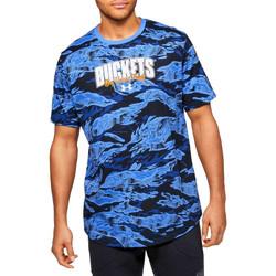 tekstylia Męskie T-shirty z krótkim rękawem Under Armour Baseline Verbiage Tee 1351295-486 Niebieskie