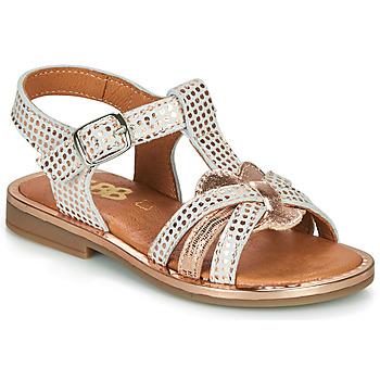 Buty Dziewczynka Sandały GBB EGEA Biały / Różowy / Gold