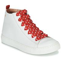 Buty Dziewczynka Trampki wysokie Little Mary SASHA (VE014) Biały / Czerwony