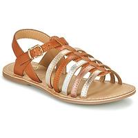 Buty Dziewczynka Sandały Little Mary BARBADE Cognac / Różowy