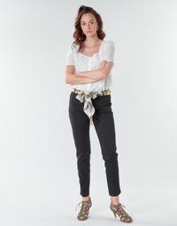 tekstylia Damskie Spodnie z pięcioma kieszeniami Betty London NIAOUTE Czarny