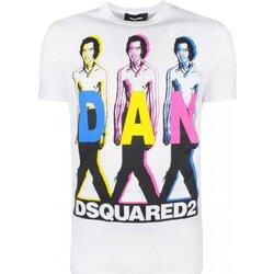 tekstylia Męskie T-shirty z krótkim rękawem Dsquared S74GD0498 Biały