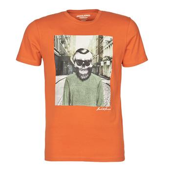 tekstylia Męskie T-shirty z krótkim rękawem Jack & Jones JORSKULLING Pomarańczowy
