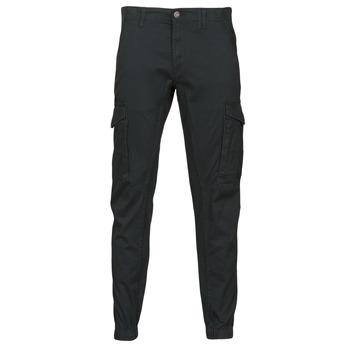 tekstylia Męskie Spodnie bojówki Jack & Jones JJIPAUL Czarny