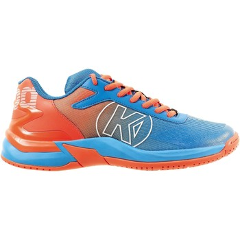 Buty Chłopiec Fitness / Training Kempa Chaussures enfant  Attack 2.0 bleu/rouge fluo