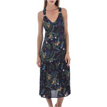 tekstylia Damskie Sukienki długie See U Soon 20121060B Czarny