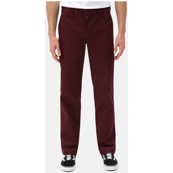 tekstylia Męskie Chinos Dickies S/stght work pant Bordeaux
