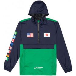 tekstylia Męskie Kurtki wiatrówki Huf Jacket flags anorak Niebieski
