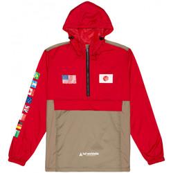 tekstylia Męskie Kurtki wiatrówki Huf Jacket flags anorak Czerwony