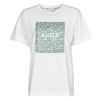 tekstylia Damskie T-shirty z krótkim rękawem Aigle RAOPTELIB Biały