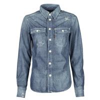 tekstylia Damskie Koszule G-Star Raw KICK BACK WORKER SHIRT WMN L\S Niebieski / Medium