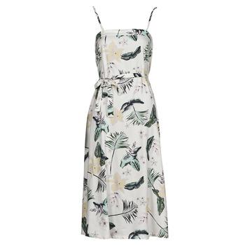tekstylia Damskie Sukienki długie Roxy NOWHERE TO HIDE Biały