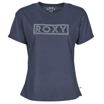 tekstylia Damskie T-shirty z krótkim rękawem Roxy EPIC AFTERNOON WORD Marine