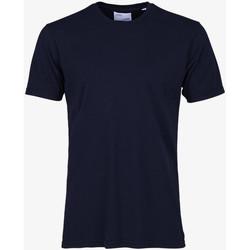 tekstylia Męskie T-shirty z krótkim rękawem Colorful Standard CLASSIC ORGANIC TEE navy-blue-blu