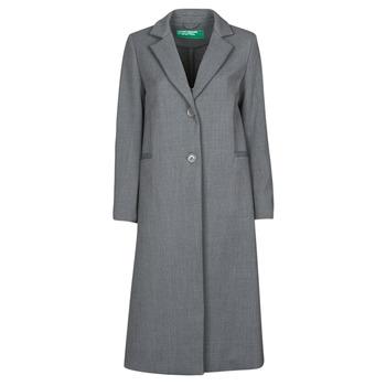 tekstylia Damskie Płaszcze Benetton  Szary