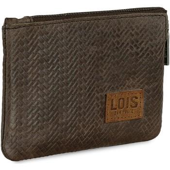 Torby Męskie Portfele Lois DAVIDSON Męski portfel skórzany Brązowy