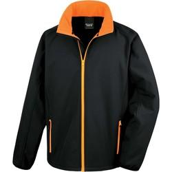 tekstylia Męskie Bluzy dresowe Result Veste  Softshell Printable noir/noir